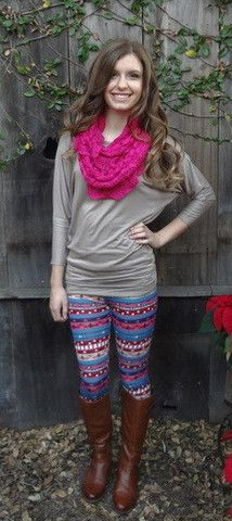 Pink and Blue Aztec Leggings – Layla's Shop