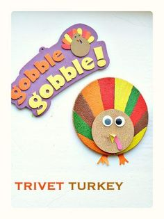 turkey-craft-for-kids-with-trivets-and-coasters Directions at http://www.kidsplaybox.com