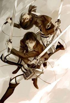 Rivaille (Levi) and Mikasa Ackerman
