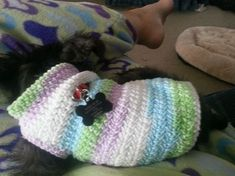 Free Dog Sweater Crochet Pattern. //  THIS LOOKS LIKE IT WILL FIT KATIE!!! ♥A