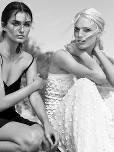 "Andreea Diaconu & Ashleigh Good in ""Santa Barbara"" for Vogue UK, June 2014 Photographed by: Josh Olins"