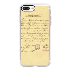 Lovely Handwritten Old Letter and Seal - iPhone 7 Case, iPhone 7 Plus... ($40) ❤ liked on Polyvore featuring accessories, tech accessories, iphone case, iphone cover case, slim iphone case, iphone cases and apple iphone case