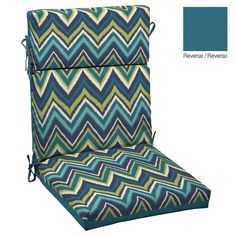Arden Flame Blue Flame Stitch High Back Chair Cushion   Lowe s CanadaGarden Treasures Set of 2 Cascade Creek Black Steel Swivel Patio  . Exterior Cushions Canada. Home Design Ideas