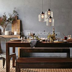 Bulb Included Pendant Lights , Traditional/Classic / Vintage Living Room / Dining Room - USD $ 185.39