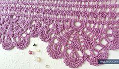 Free crochet edging pattern: Wide Economy Lace #58