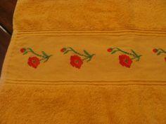 Toalha de rosto - flores