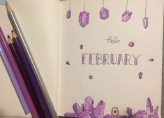 It's still January, but I couldn't wait till it ends. Ready with the February cover page. I the baby with the amethyst