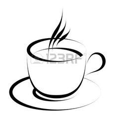 vector de la taza de caf  Foto de archivo
