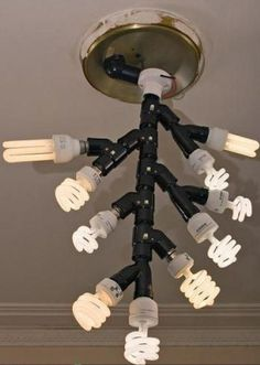 Redneck chandelier. I actually like this for the fact that I can never see in the house.