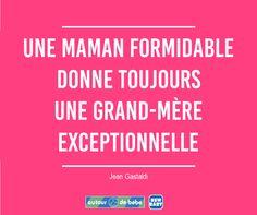 Bonne fête des grands-mères ! Daily Motivation, Motivation Inspiration, Jolie Phrase, Mothers Love, Positivity, Messages, Mood, Sayings, Future Maman