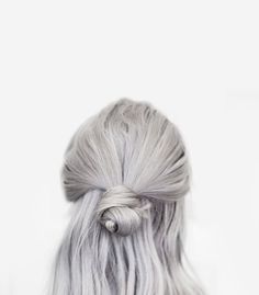 grey hair, half bun. from http://bon.se/blogs/frida-vega-salomonsson/