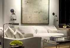 contemporary artwork and white sofa - Portfolio | Michael Dawkins Home