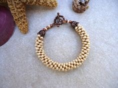 Ivory Kumihimo Bracelet via Etsy