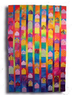 Melody Johnson's quilts all make me happy.  Super saturated colors!