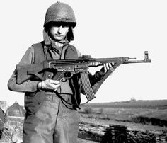 Private 1st Class Alvin Glascock with the German assault rifle StG-44. (MP-43/1)…