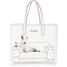Jimmy Choo Martini printed coated canvas tote (£850) ❤ liked on Polyvore featuring bags, handbags, tote bags, lightweight tote, metallic purse, white tote, metallic tote and coated canvas tote