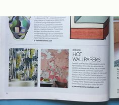 Peeling Paint wallpaper from our collection of wallpapers here in @MiLKMagazine #peelingpaint #wallpaper #elladoran