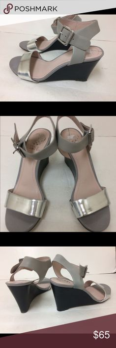 Vince Camuto Sandals Vince Camuto silver upper wedge Sandals. Vince Camuto Shoes Wedges