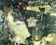 James Guthrie (Scottish artist, 1859-1930) Tea