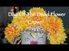 DIY Flower Crowns: Dia De Los Muertos Inspired by Dia De Los Muertos or Day of the Dead, I wanted to show you how to make these two Flower Crowns perfect for...