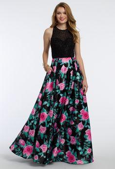 Floral Skirt Ballgown Dress