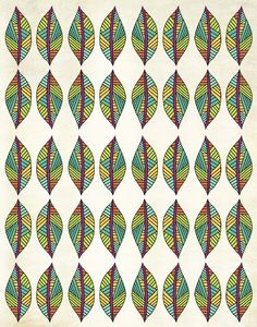 Nature Inspired Patterns - Pom Graphic Design #leaves #nature #illustration #multicolor #home #decor #poster #native #colorful #eco #organic