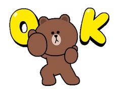 Line Stickers & Themes Animated Smiley Faces, Animated Cartoons, Animated Gif, Friends Gif, Line Friends, Cony Brown, Brown Bear, Smile Gif, Bunny And Bear