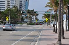 The Westin Fort Lauderdale Beach has a walkway from its pool area over highway A1A to the beach.