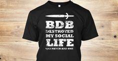 Killer shirt for Black Dagger Brotherhood fans!