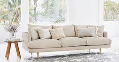 The sleek, tailored lines and large, feathery cushions on our long-enough-for-two Hampton 4 seater sofa make this elegantly crafted sofa that will welcome you home after a long day. Outdoor Sofa, Outdoor Furniture, Outdoor Decor, Linen Sofa, Lounge Sofa, Sustainable Fabrics, Sunny Days, The Hamptons, Love Seat