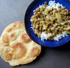 pigeon peas, saffron, and artichoke hearts  with jerk-spiced roti