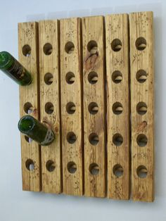 Wine Rack Distressed Oak Finished Riddling Style Wood Winerack