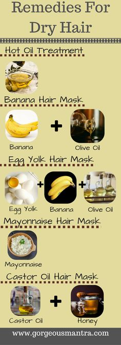 8 Simple Home Remedies For Dry Hair  | Gorgeousmantra