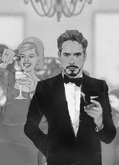 Tony Stark - White House Party, 1962 AU -- by Dave Seguin