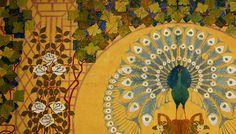 Samaritaine Paris art nouveau Paris Art, Peacock, Art Nouveau, Painting, Painting Art, Peacocks, Paintings, Painted Canvas, Drawings