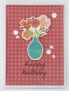 Happy Birthday card by @reneezwirek using the #HappyDay collection by @pebblesinc #sponsored