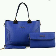Fashionable Blue 2 pieces handbags shoulder bag sally young designer
