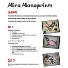 In this lesson, the teacher is given step-by-step directions for creating a monoprint that is inspired by the work of Joan Miro.  Materials needed ...