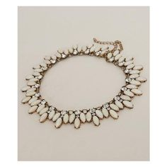 BKE Statement Necklace ($20) ❤ liked on Polyvore featuring jewelry, necklaces, rhinestone statement necklace, rhinestone jewelry, bke jewelry, rhinestone necklace and statement necklace