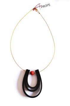 Coral Black Neoprene gold wire short by PROPSfashion on Etsy