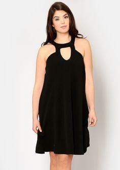 Plus Betsey Keyhole Flow Dress