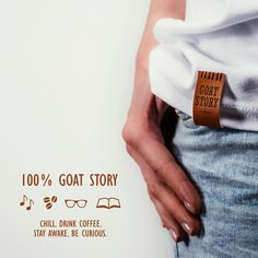 Recipe for a B-AA-AWESOME day : wear a GOAT STORY T-shirt, chill, drink coffee, stay awake, be curious! ☕️