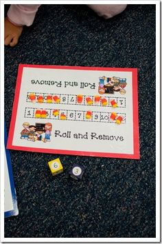 Anytime Math: Eat the candy corn on the number you roll.