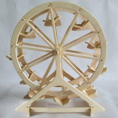 WOODEN Puzzle model diy child three dimensional jigsaw puzzle toy Manual assembly parts ferris wheel model-inPuzzles from Toys & Hobbies o. Wooden Jigsaw Puzzles, 3d Puzzles, Wooden Building Blocks, Traditional Toys, Puzzle Toys, Wood Toys, Wooden Diy, Three Dimensional, Ferris Wheel