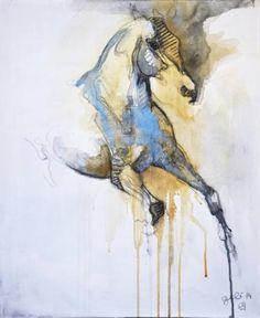 """Saatchi Art Artist Benedicte Gele; Painting, """"Equine Nude 3T (In Gallery, WI USA)"""" #art"""