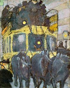 Pierre Bonnard - The Omnibus Pantheon-Courcelles, 1890