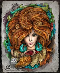 "Zodiac illustration ""LEO"""