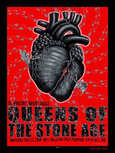 Emek Queens of the Stone Age Columbia Poster