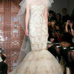 Reem Acra :: Gold Details #fall2013 #bridalcollection #reemacra #reemacrabridal #bridalfashion #bridalfashionweek #bridalgown #weddinggown #bridaldress #weddingdress #bridalinspiration #weddinginginspiration #bridestyle #weddingfashion #mermaidgown #mermaiddress #gold #golddetails #gowndetails #details #bridestyle #fashionbride #igers #igdaily #instabride #fashion #instastyle #style #love #pretty #elegant