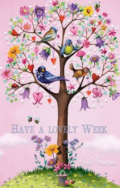 Have a Lovely Week monday good morning monday quotes good morning quotes happy monday monday quote happy monday quotes good… Good Morning Good Night, Morning Greeting, Happy Day, Decoupage, Illustration Art, Happy Birthday, Artsy, Wallpaper, Drawings